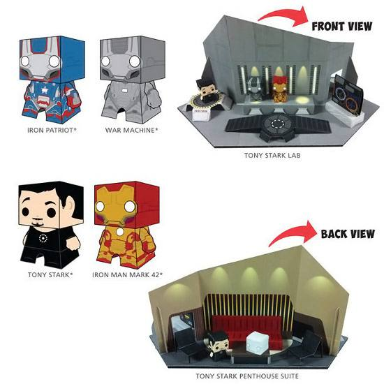 Iron Man - Papercraft Playset - kit para montar