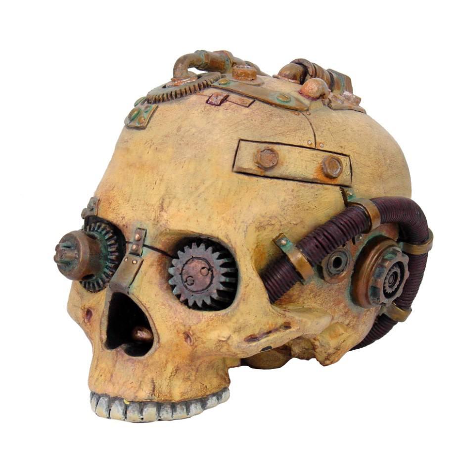 Steampunk Skull - Feito de resina - 15 cm