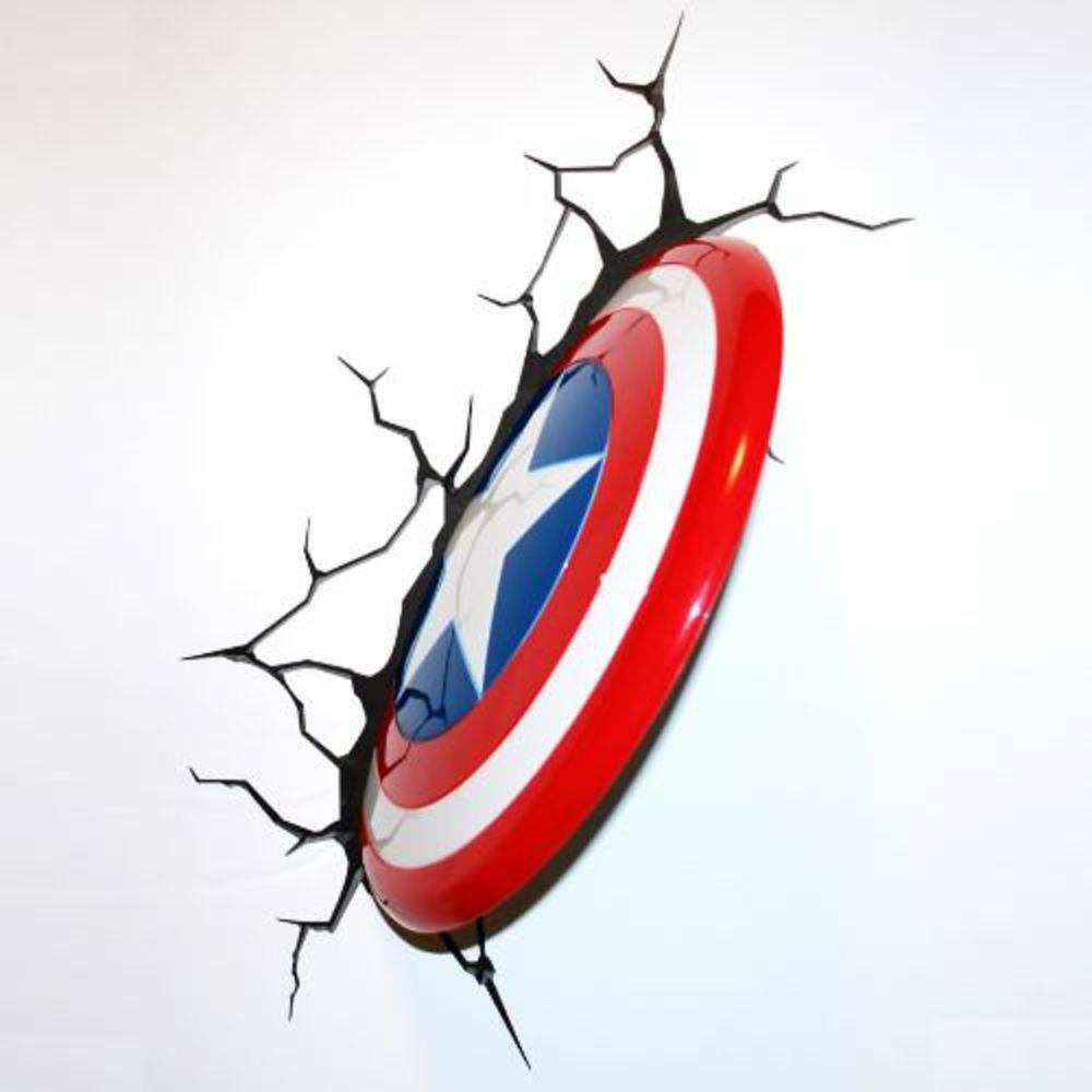 Luminária - Marvel - Vingadores - Capitão America Escudo