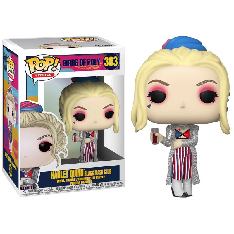 POP! FUNKO - AVES DE RAPINA - HARLEY QUINN BLACK MASK CLUB