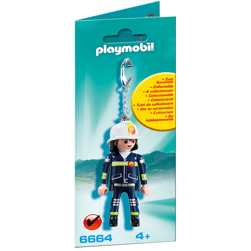 PLAYMOBIL - CHAVEIROS - BOMBEIRO - 6664