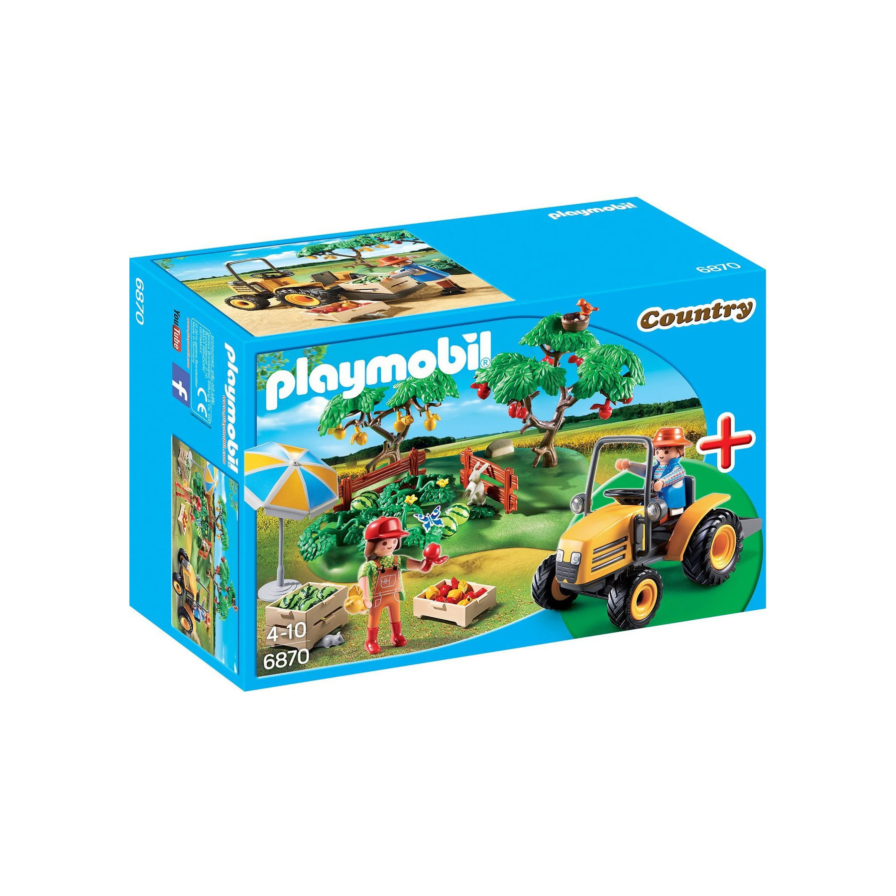 PLAYMOBIL - COUNTRY - POMAR COM TRATOR - 6870