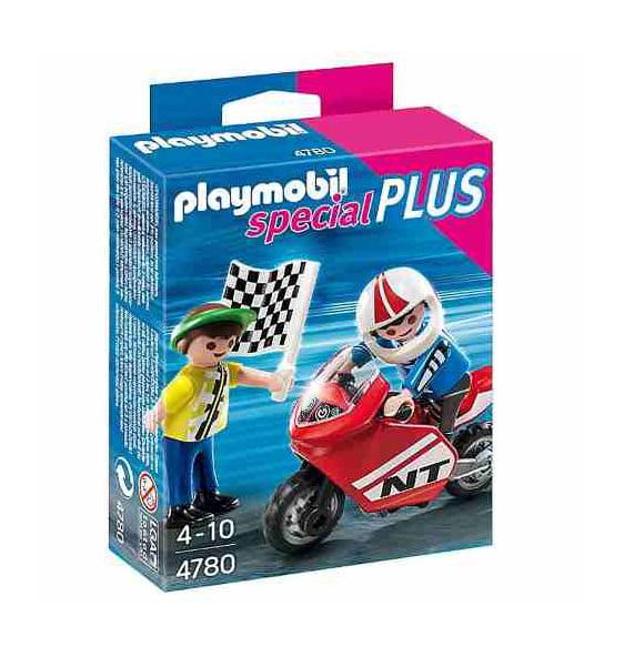 PLAYMOBIL - ESPECIAL PLUS - CORRIDA DE MOTO