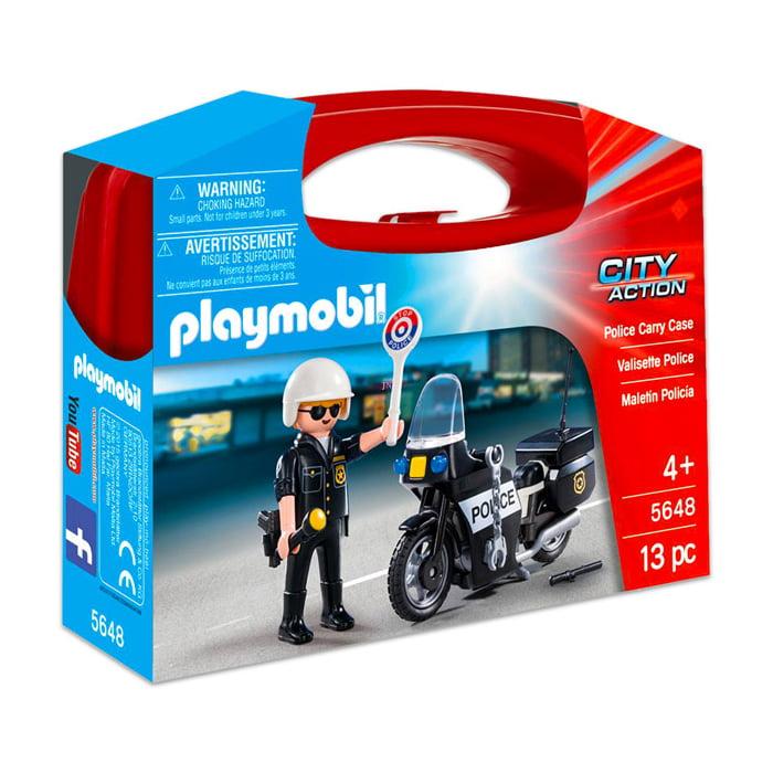 PLAYMOBIL - MALETA - POLICIAL - CITY ACTION - 5648