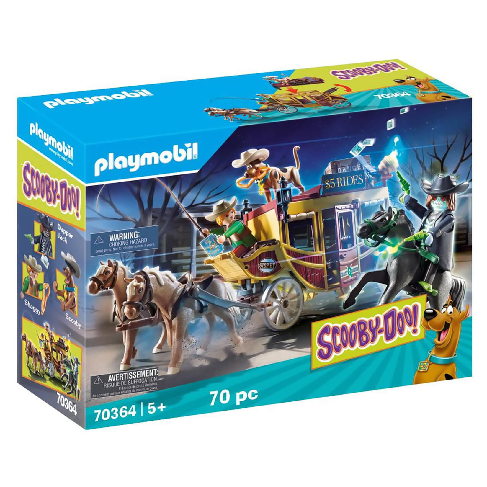 PLAYMOBIL - SCOOBY-DOO - AVENTURA NO OESTE SELVAGEM - 70364