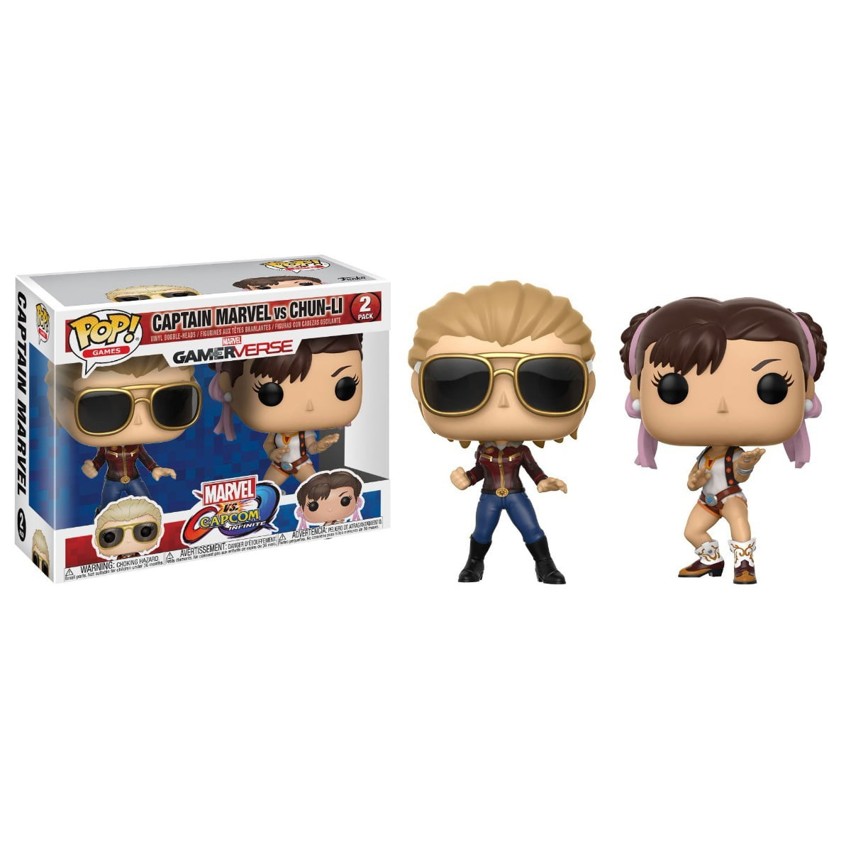 POP! CAPITÃO MARVEL VS CHUN-LI