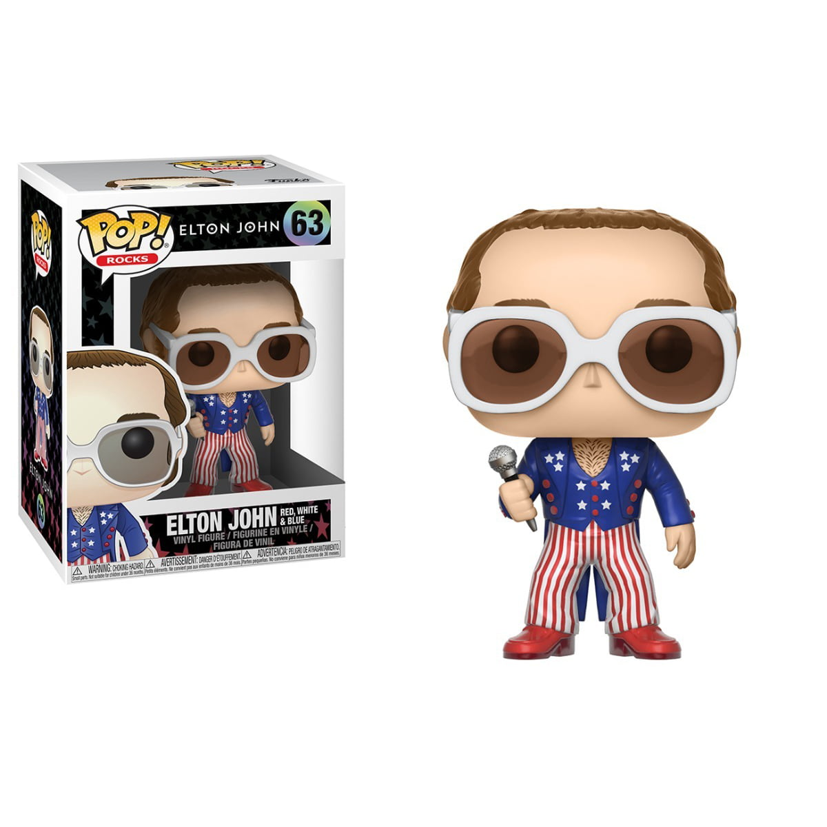 POP! ELTON JOHN - ELTON JOHN - RED, WHITE & BLUE