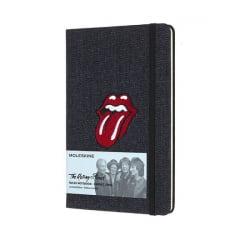 Caderno Moleskine Edição Limitada, Rolling Stones, Jeans, Capa Dura, Pautado, Grande