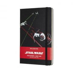 Caderno Moleskine, Edição Limitada Star Wars, Naves, Pautado, Grande