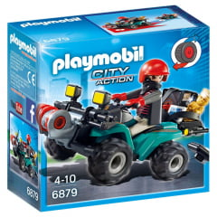 PLAYMOBIL - CITY ACTION - FUGITIVO COM QUADRICICLO - 6879