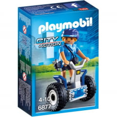 PLAYMOBIL - CITY ACTION - POLICIAL FEMININA COM SEGWAY - 6877