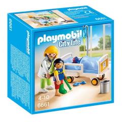 PLAYMOBIL - CITY LIFE - PEDIATRA COM MACA - 6661