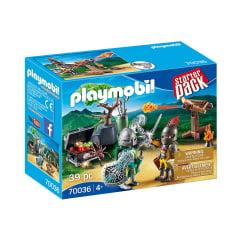 PLAYMOBIL - STARTER PACK - BATALHA DO CAVALEIRO DO TESOURO - 70036