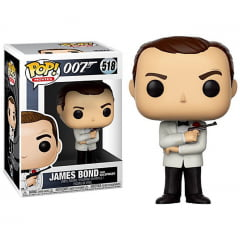 POP! FUNKO - 007 - JAMES BOND COM TERNO BRANCO