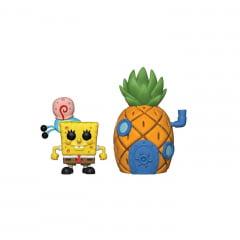 Pop! Funko - Bob Esponja e Gary com Casa Abacaxi