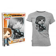 POP! TEES - THE WALKING DEAD - DARYL DIXON - CAMISETA FEMININA GG