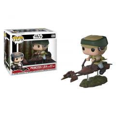 POP! Star Wars - Princesa Leia com Speeder Bike